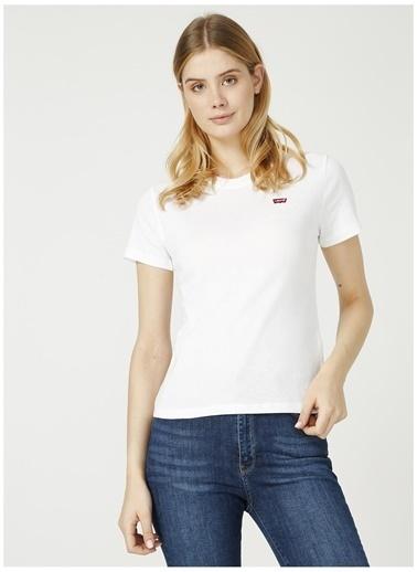 Levi's® Levis Kadın Beyaz Bisiklet Yaka T-Shirt Beyaz